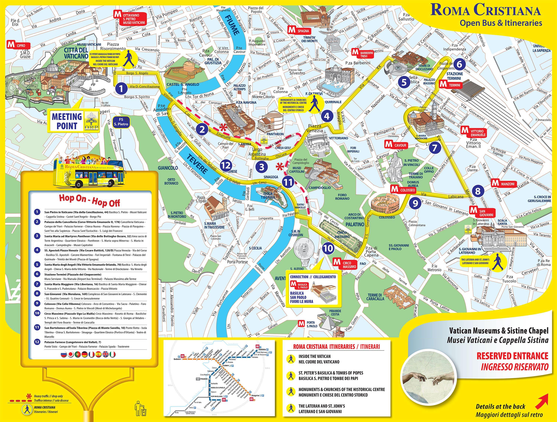 Kartta Rooman Nahtavyyksiin Rooma Turisti Kartta Lazio Italia