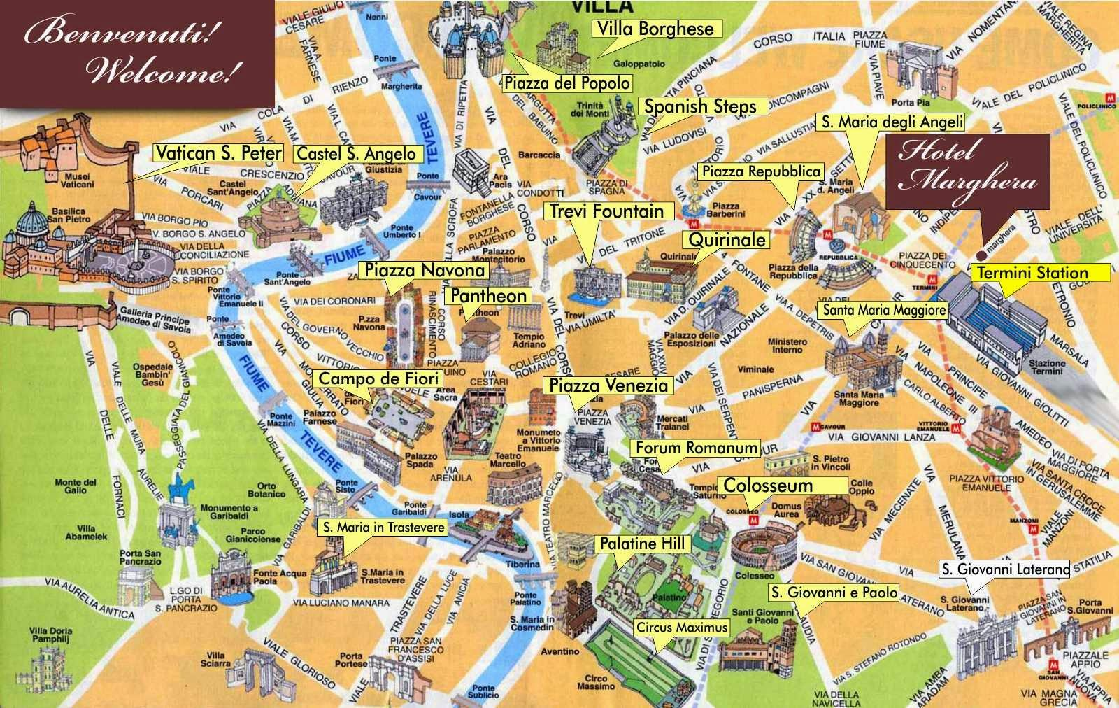 Rooma Opas Kartta Kartta Rooma Opas Lazio Italia