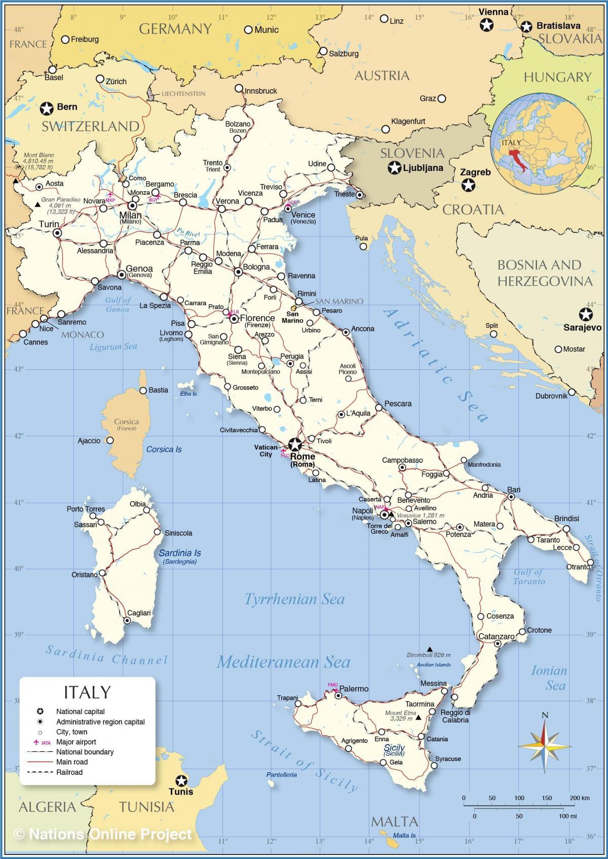 Rooma Italia Kartta Rooma Ja Italia Kartta Lazio Italia