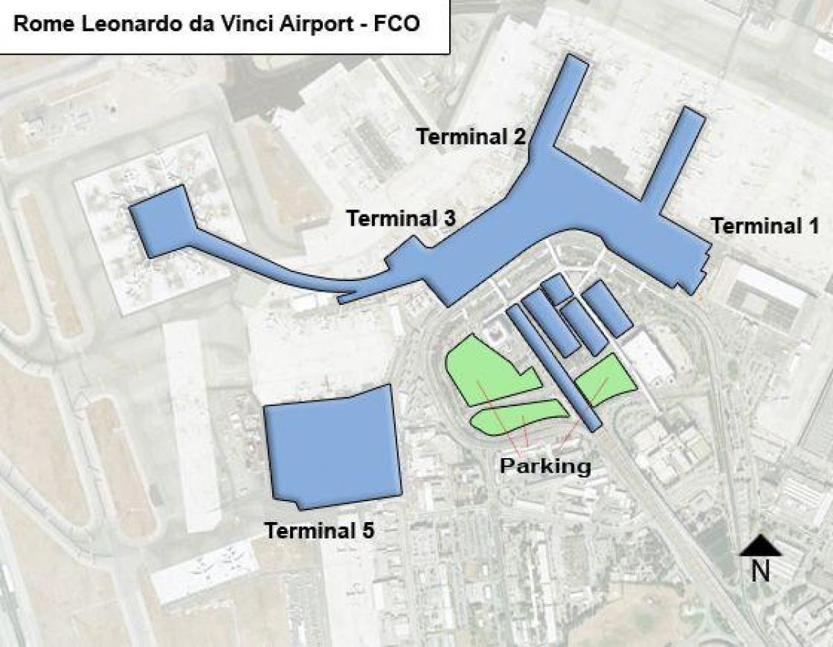 Rooma Fco Lentokentta Kartta Rooma Lentokentta Terminaali Kartta